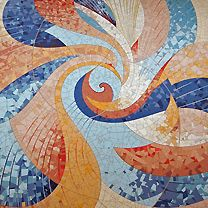 Twin Dolphin Mosaics | Gallery | New Work | Flow Motion