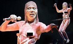 Topless Grace Jones, 67, hits the stage as she headlines Afropunk festival | Daily Mail Online