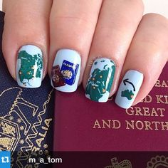 """""""#Repost @m_a_tom with @repostapp.・・・#npclairestelle8 Travel. Some of the places on the bucket list to be crossed off in the next couple of years. Singapore seems to be missing along with half of Asia! I used the dreamy @zoyanailpolish Blu stamped with @winstonia_store On the Road and @uberchicbeauty 2-03 with @mundodeunas stamping polish."""" Photo taken by @alexandravicunaperry on Instagram, pinned via the InstaPin iOS App! http://www.instapinapp.com (02/25/2015)"""