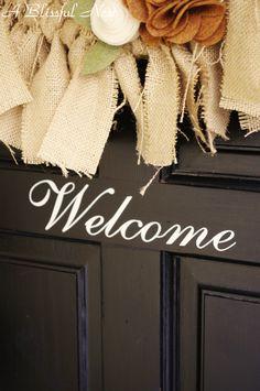 Front door decal by Ten 23 Designs on my door!