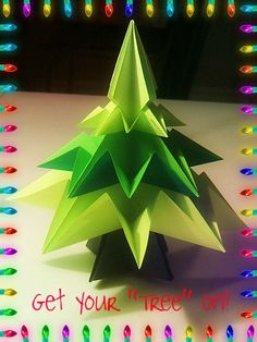 Create a forest of trees for Christmas this year! . Free tutorial with pictures on how to fold an origami tree in under 60 minutes by paper folding with paper and glue dots. Inspired by christmas and plants, flowers & trees. How To posted by Lanie V. Difficulty: Simple. Cost: Absolutley free. Steps: 43