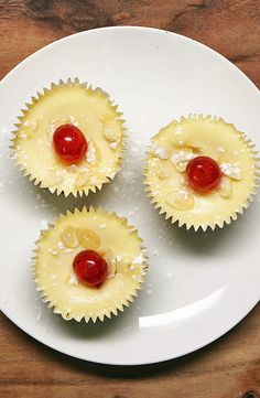 Mini Cherry Bakewell Cheesecakes