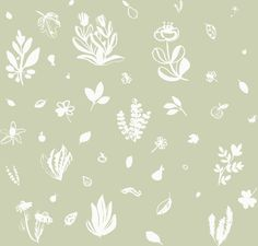 """Grafica di MauScarf: """"Spring green"""" #pattern #thecolorsoup #flowers #colors #textile #design #style #texture"""