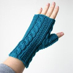 Gingerbread Icing Gloves in Teal - via @Craftsy