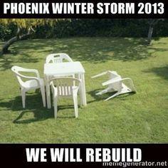 Phoenix Winter Storm 2013