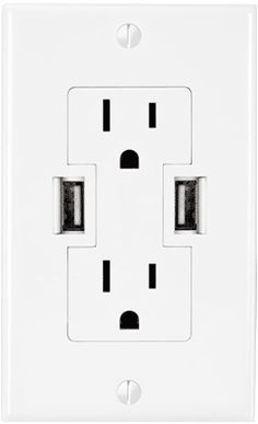 Tech for your tiny house; wall plugs with built in USB charging ports | Bungalow to Go