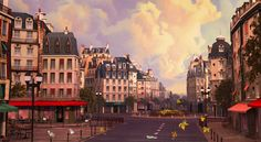 Paris Set - Dreamworks HOME!  3D set Design