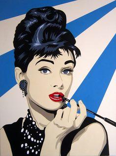Antonio de Felipe - Audrey Hepburn Pop Art (blue background) | Pop ...
