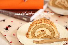 Coffee Almond Roll Cake - Recipe