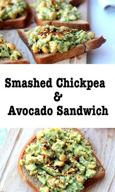 Smashed Avocado and Chickpea Sandwich!
