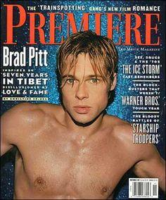 Brad Pitt Cover Carrie Fiter // fashion aesthetic hairstyles out… Jennifer Aniston, Junger Brad Pitt, Bratt Pitt, Oklahoma, Brad Pitt And Angelina Jolie, Tyler Durden, Starship Troopers, Actors Male, 90s Hairstyles
