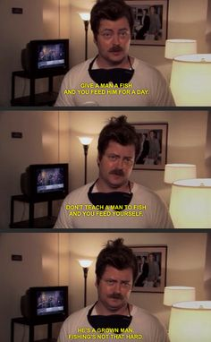 When someone asks you for a bite. | 17 Times Ron Swanson Perfectly Summed Up Your Relationship With Food