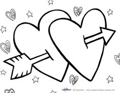 horizontal happy valentines day coloring google search free valentine cardsprintable