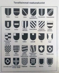6. luokka piirustus Heraldiikka (taustaa). Some Ideas, World History, Finland, Kylie, Medieval, Art Projects, Teaching, Design, Mid Century