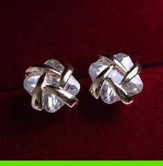 Gold Trim Princess Cut Rhinestone Earrings | LilyFair Jewelry, $11.99!