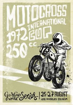 Motosacoche Swiss Motorcycle Motocross Race Vintage Poster Repro FREE S//H