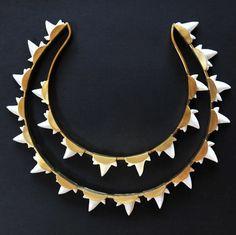 Unique two-row necklace by OlaPuchaczJewellery. http://puchaczjewellery.blogspot.com/