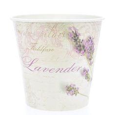 Vaso Pequeno Redondo Decorado - Estilo Provençal Lavender - R$ 6,99
