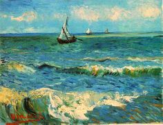 Seascape at Saintes-Maries. Vincent van Gogh, 1888.