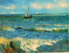 Seascape at Saintes-Maries. Vincent van Gogh, 1888.