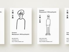 Business Card Design by Masanori Mitsuhashi https://dribbble.com/shots/3073167-Business-Card-Design #zeeenapp