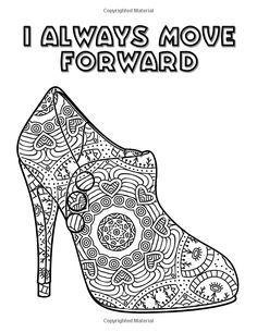 pretty shoes an adult coloring book with positive affirmations volume 3 transcendental