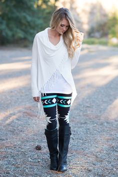 Mint Navajo Aztec Leggings