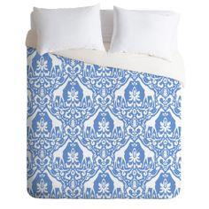 Jacqueline Maldonado Giraffe Damask Pale Blue Duvet Cover   DENY Designs Home Accessories