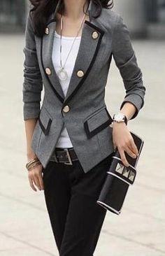 Love the blazer style but not the weird buttons.