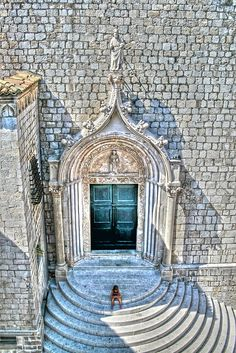 "Dubrovnik, Croatia........IF I EVER MAKE IT TO THE TOP OF THESE STAIRS, I'LL SIT AND ""CONTEMPLATE"" WITH SITTING SUBJECT.........ccp"
