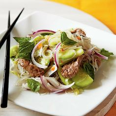 Fiery Beef and Rice Noodle Salad by Cooking Light