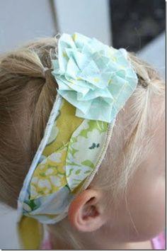 scrappy fabric headband