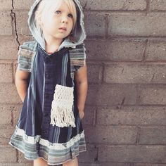Hooded prairie dresses  from reclaimed vintage fabrics www.bohobabyboutique.com