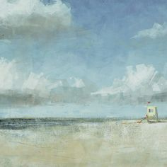 Found it at Wayfair - Seaside 2 Painting Print on Wrapped Canvas