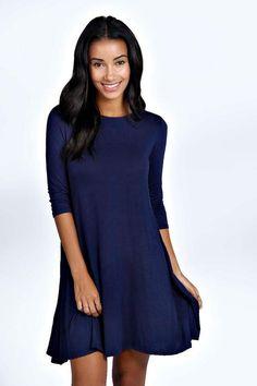 Allie 3/4 Sleeve Swing Dress