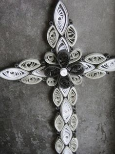 quilled crosses | Quilled Cross Black and White by SmilingBullCreations on ...