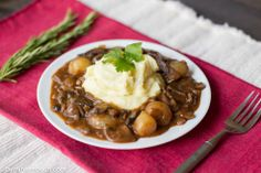 recipe for a lentil and mushroom bourguinon:  The addition of lentils is quite welcome, because as delicious as the mushroom bourguignon is, there isn't a lot of protein or fibre there.