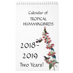 Hummingbird Birds Flower Floral 2018 2019 CalendarAnimal floral themed business cards and office supplies Wedding Color Schemes, Wedding Colors, Create Your Own, Create Yourself, Calendar 2018, Gifts For Family, Holiday Gifts, Stationery, Tropical