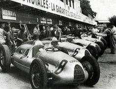 1938 Auto Union Typ D and C by kitchener.lord, via Flickr