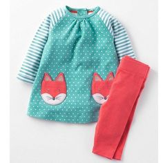 Girls Children Clothing with Animal Applique