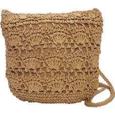 Magid Long Crochet Crossbody (€23) ❤ liked on Polyvore featuring bags, handbags, shoulder bags, fabric handbags, tan, tan shoulder bag, brown crossbody, brown purse, handbags shoulder bags and purse shoulder bag