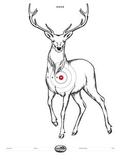 Printable shooting targets and gun targets. All targets are available as PDF documents and print on standard x 11 paper. Deer Hunting Tips, Hunting Guns, Archery Hunting, Bow Hunting, Archery Bows, Deer Targets, Rifle Targets, Archery Targets, Diy Archery Target