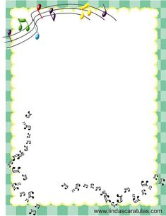 """The invite for our Girl Guides """"Arts Night"""" to invite parents and caregivers? Page Borders Design, Border Design, Borders For Paper, Borders And Frames, Motif Music, Music Border, Kids Cartoon Characters, Binder Covers, Paper Tags"""