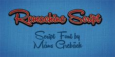 Remachine Script Personal Use font by Måns Grebäck - FontSpace