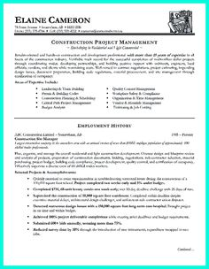 construction project manager resume for experienced one must be made with professional profile education. Resume Example. Resume CV Cover Letter