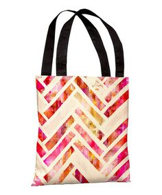 Take a look at this Sugar Flake Herringbone Tote by OneBellaCasa on #zulily today! $28 !!
