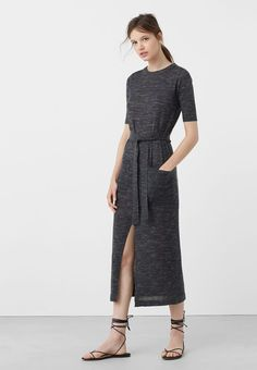 Robes T-shirt Mango BAGGY - Robe en jersey - dark heather grey gris: 29,99 €…