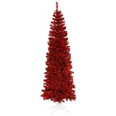 $189.99-$229.99 6.5' Pre-Lit Red Hot Artificial Pencil Tinsel Christmas Tree - Red Lights -  http://www.amazon.com/dp/B0045LIGAQ/?tag=pin2wine-20