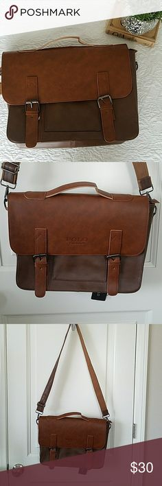 Faux Leather Messenger Bag Really nice looking faux leather messenger bag. New with tags Bags Messenger Bags