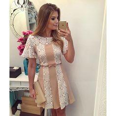 Bej Beyaz Tasarım Elbise